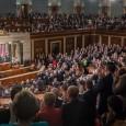 """(kongres USA, foto: en.wikipedia.org)  Odpálením pěti tuctů Tomahawků z vojenské základny mohl president """"America First"""" vtáhnout Západ do další..."""